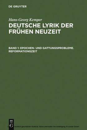 Epochen- und Gattungsprobleme. Reformationszeit