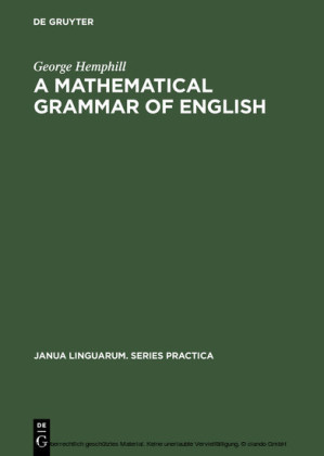 A mathematical grammar of English