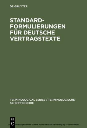 Standardformulierungen für deutsche Vertragstexte