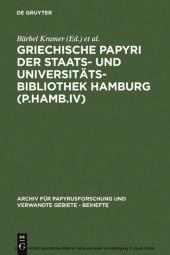 Griechische Papyri der Staats- und Universitätsbibliothek Hamburg (P.Hamb.IV)
