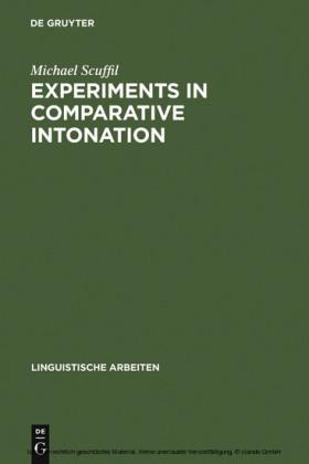 Experiments in Comparative Intonation