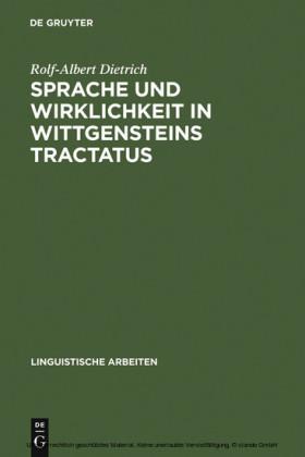 Sprache und Wirklichkeit in Wittgensteins Tractatus