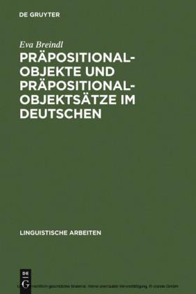 Präpositionalobjekte und Präpositionalobjektsätze im Deutschen