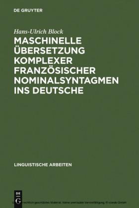 Maschinelle Übersetzung komplexer französischer Nominalsyntagmen ins Deutsche