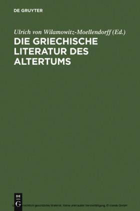 Die griechische Literatur des Altertums