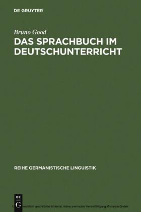 Das Sprachbuch im Deutschunterricht