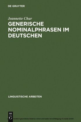 Generische Nominalphrasen im Deutschen