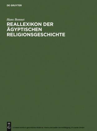 Reallexikon der ägyptischen Religionsgeschichte
