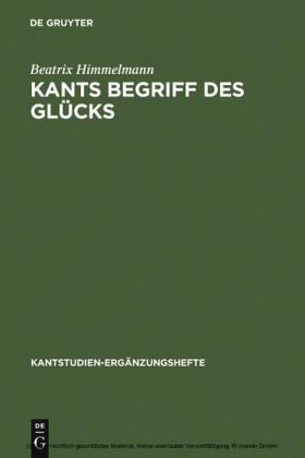 Kants Begriff des Glücks