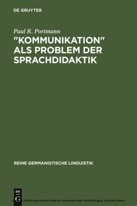 'Kommunikation' als Problem der Sprachdidaktik