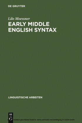 Early Middle English Syntax