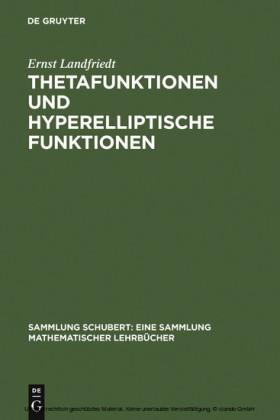 Thetafunktionen und hyperelliptische Funktionen
