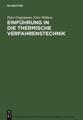Einführung in die thermische Verfahrenstechnik