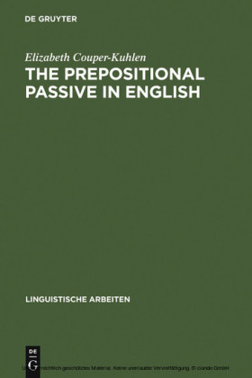 The prepositional passive in English