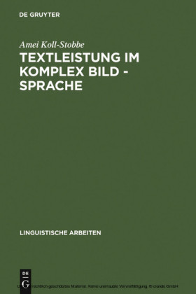 Textleistung im Komplex Bild - Sprache