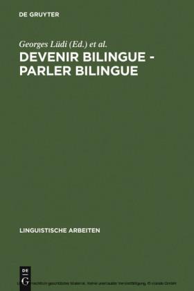 Devenir bilingue - parler bilingue