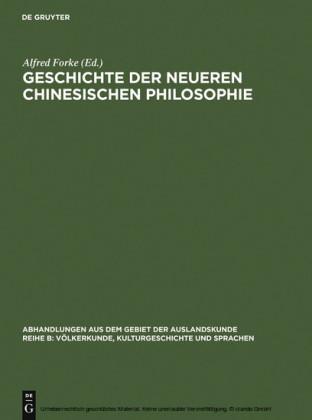 Geschichte der neueren chinesischen Philosophie