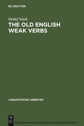 The old English weak verbs