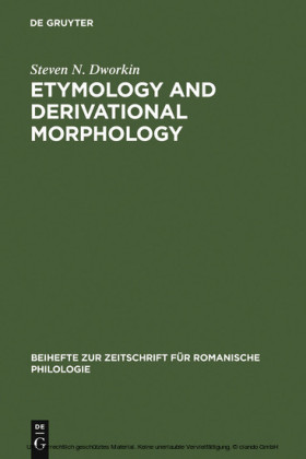 Etymology and Derivational Morphology