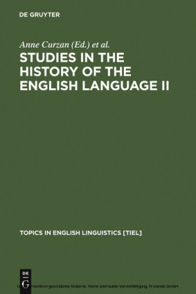 Studies in the History of the English Language II