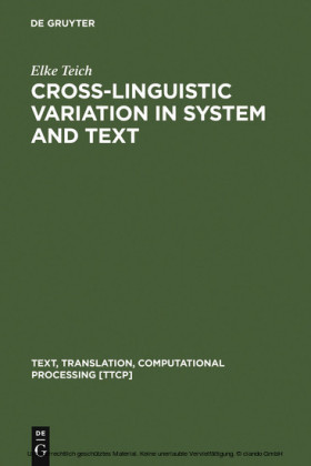 Cross-Linguistic Variation in System and Text