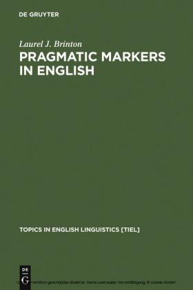 Pragmatic Markers in English