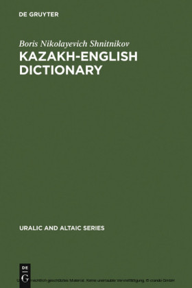 Kazakh-English dictionary