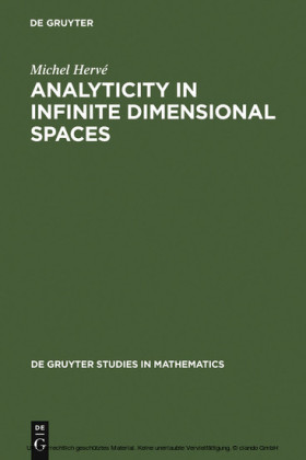 Analyticity in Infinite Dimensional Spaces