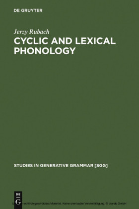 Cyclic and lexical phonology