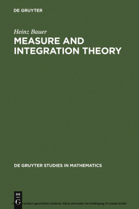 Measure and Integration Theory