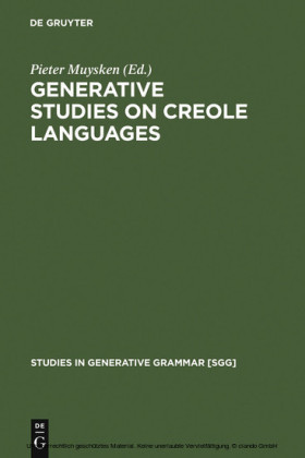Generative studies on Creole languages