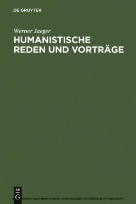 Humanistische Reden und Vorträge