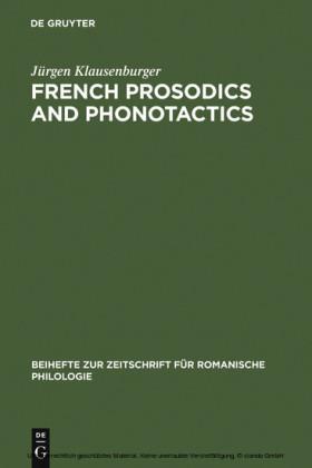 French prosodics and phonotactics