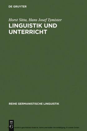 Linguistik und Unterricht