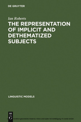 The Representation of Implicit and Dethematized Subjects
