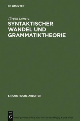 Syntaktischer Wandel und Grammatiktheorie