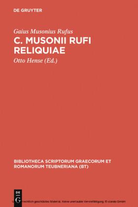 C. Musonii Rufi reliquiae