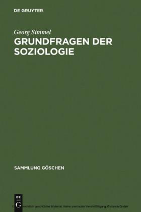 Grundfragen der Soziologie