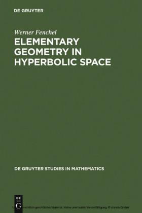 Elementary Geometry in Hyperbolic Space