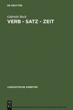 Verb - Satz - Zeit