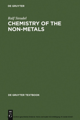 Chemistry of the Non-Metals