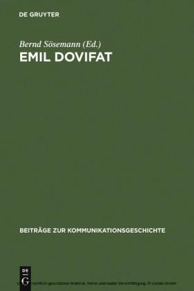Emil Dovifat