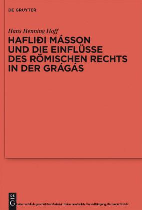 Hafliði Másson und die Einflüsse des römischen Rechts in der Grágás