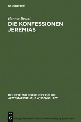 Die Konfessionen Jeremias