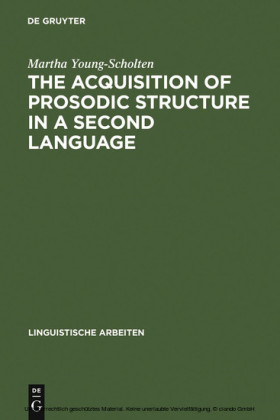 The Acquisition of Prosodic Structure in a Second Language