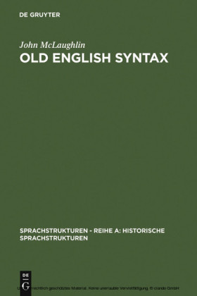 Old English Syntax