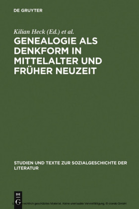 Genealogie als Denkform in Mittelalter und Früher Neuzeit