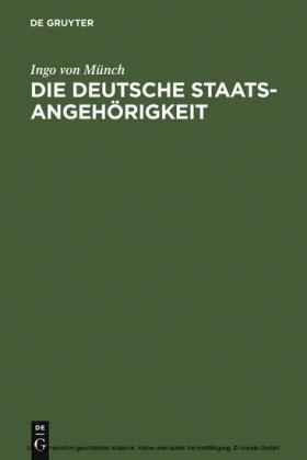 Die deutsche Staatsangehörigkeit