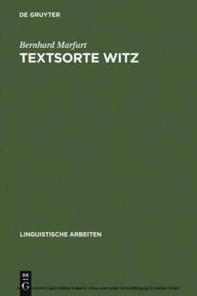 Textsorte Witz