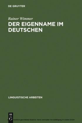 Der Eigenname im Deutschen